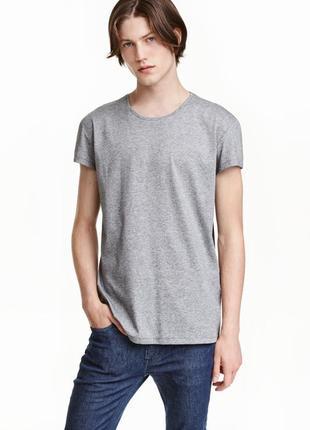 Серая хлопковая футболка h&m !