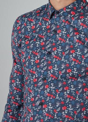Рубашка TOPMAN,  Floral Print Long Sleeve !