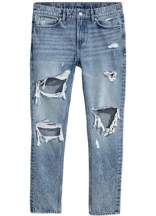 Рваные джинсы h&m , slim regular trashed !