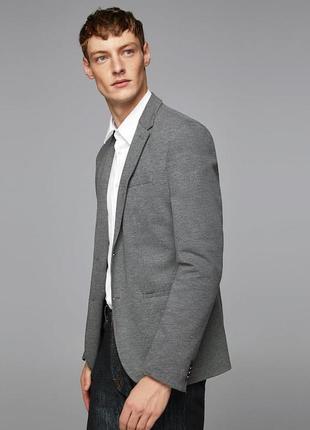 Серый базовый пиджак zara man !