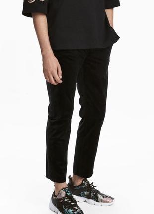 Чёрные велюровые брюки h&m premium quality !