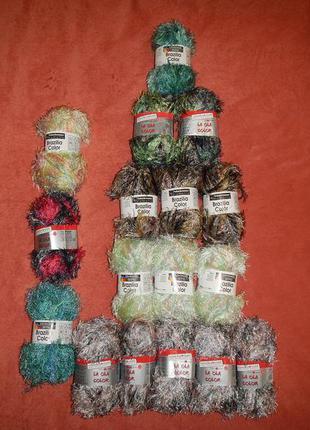 Нитки травка пряжа для вязания в комплекте