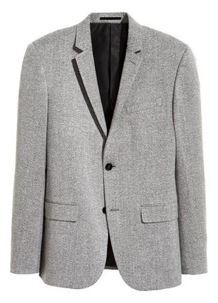 Серый пиджак h&m premium quality , slim fit !