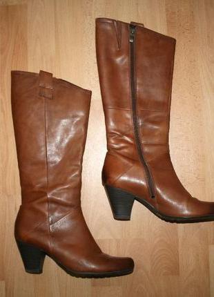 Сапоги кожаные фирменные Marco Tozzi 40 размер (Германия)