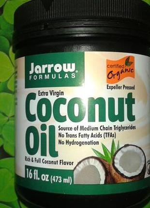 Jarrow Formulas, Органическое кокосовое масло Extra Virgin США