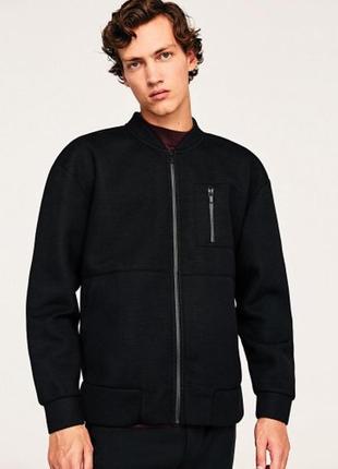 Чёрная куртка бомбер zara man !