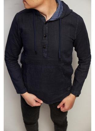 Рубашка мужская льняная figo 18048