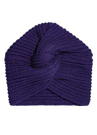 Шапка-тюрбан, чалма, цвет фиолетовый