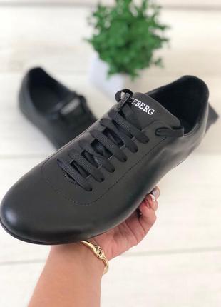 Туфли мужские черные на шнурках
