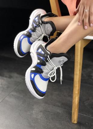 Кроссовки трендовые  black blue white модные 2020