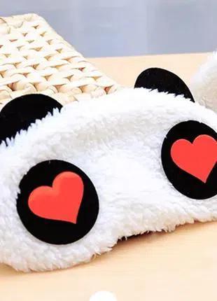 Мягкая маска панда и + беруши