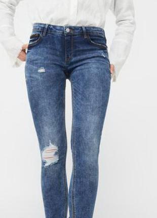 Стильные джинсы варенки  с пуш-апом mango 38р