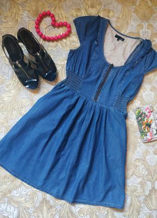 Джинсовое платье. на бирке- 10 р-р(44)