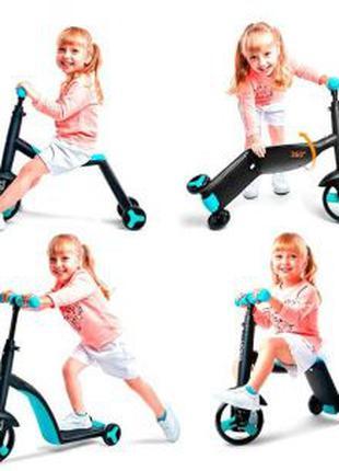 NEW 2020! Детский Самокат-Велосипед Беговел 3в1 трансформер