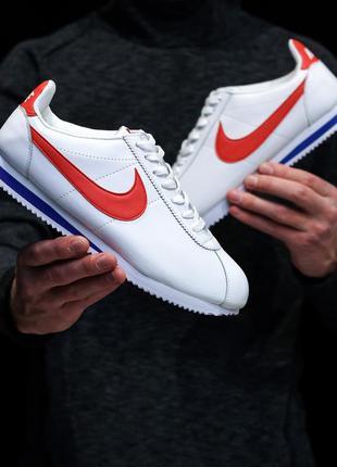 Мужские кроссовки найк кортез белые, nike cortez