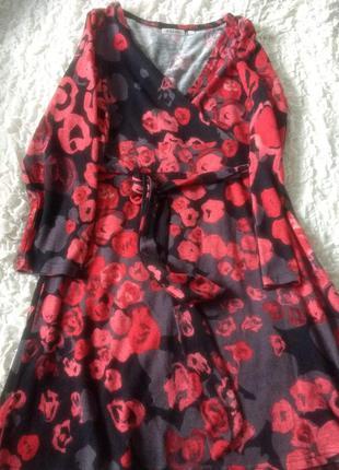 Теплое трикотажное платье palme m/l