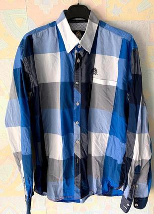 Шикарная  рубашка в клетку fellows xl