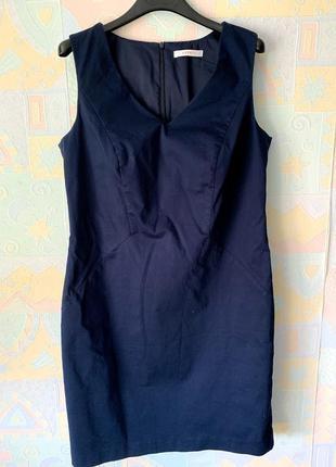 Базовое синее платье-сарафан esprit  40