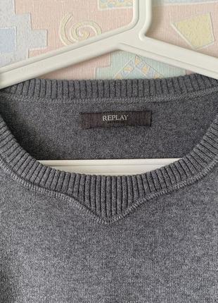 Идеальный базовый свитер replay оригинал xxl
