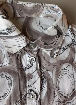 Батистовая рубашка туника большой размер 46-48
