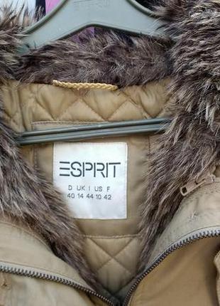 Распродажа!!!! утепленная удлиненная куртка esprit 40