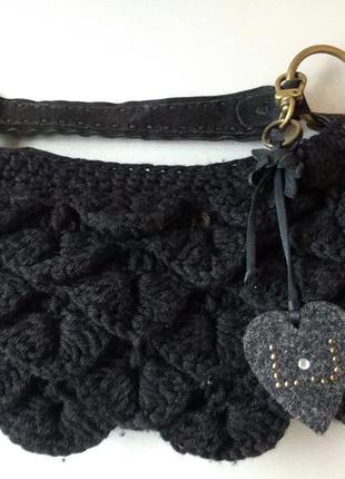 Маленькая вязаная сумочка шерсть liu jo италия оригинал