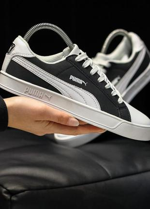 Puma suede white black