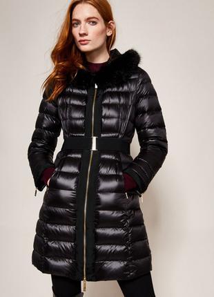 Черные легкий пуховик пуховое пальто Ted Baker