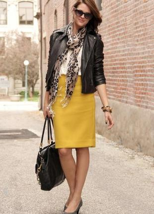 Шерстяная юбка карандаш  бренд bianca горчичная р.36-38