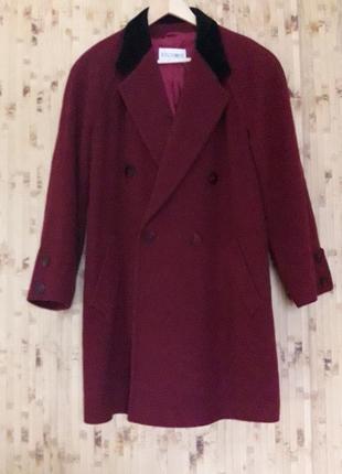 Пальто полупальто шерстяное 100% оверсайз большой размер