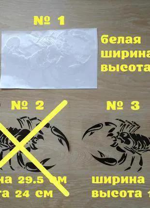 Наклейка на авто Скорпион Тюнинг авто