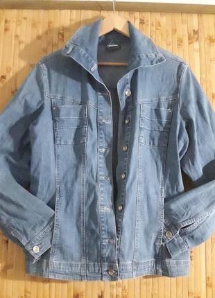 Голубая джинсовая куртка большой размер джинсовка