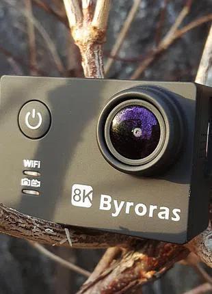 Новая Экшн-камера BYRORAS CA100 с полным комплектом аксессуаров