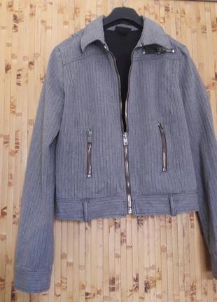 Джинсовая серая куртка бомбер брендовая diesel