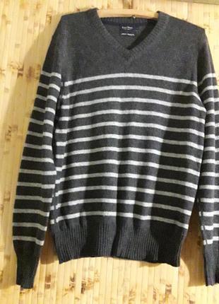 Шерстяной пуловер свитер джемпер