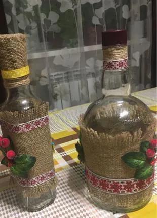 Бутылка - сувенир ручной работы