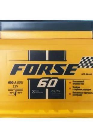 Аккумулятор  Forse -60 L+ (600 пуск) Мегатекс