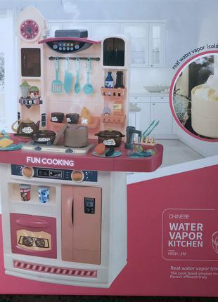 Детская кухня Home Kitchen, 56 элемент, 1 метр, вода/музыка/свет