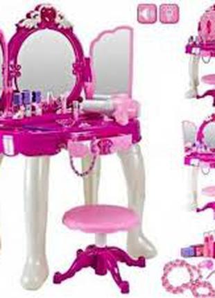 Трюмо туалетный столик с зеркалом и аксессуарами 008-19, световые
