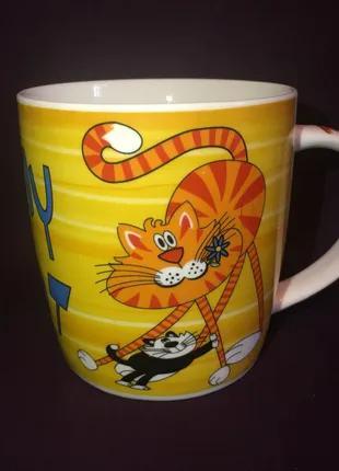 Чашка кружка Кот Кошка Котята