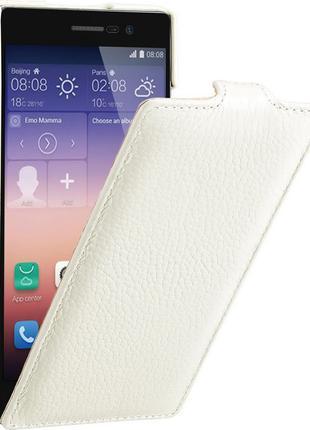 Чехол флип Avatti для Huawei Ascend P7 (Натуральная кожа!)