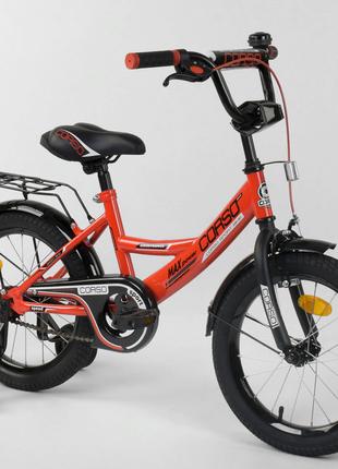 Двухколесный детский велосипед 16 дюймов CL-16 P 2255 красный