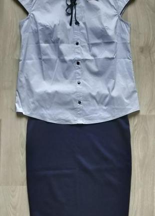 Продам новый женский офисный костюм / школьную форму ( блуза +...