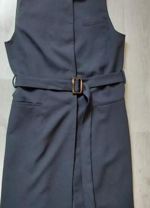 Продам новый женский длинный чёрный жилет пиджак безрукавка zara
