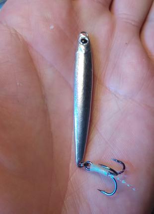 """Пилькер """"Торбелита"""" 57 мм 8 грамм,олово,тройник Owner ST-36 #10"""