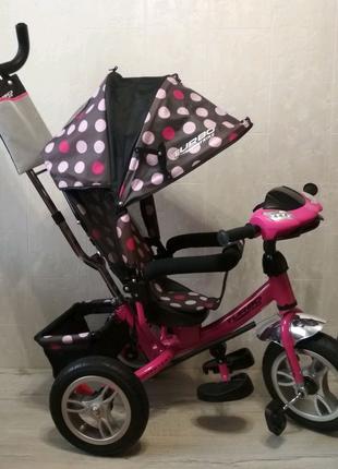 Велосипед детский трехколесный с ручкой Turbo Trike