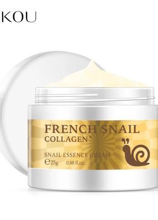 Крем лифтинг улитка коллаген гиалурон laikou french snail coll...