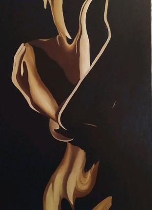 Картина маслом девушка
