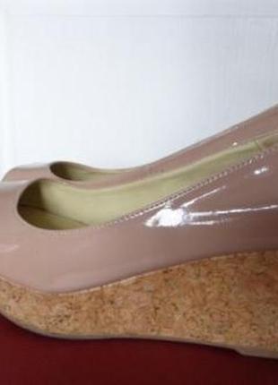 Туфли с открытым носком next на платформе