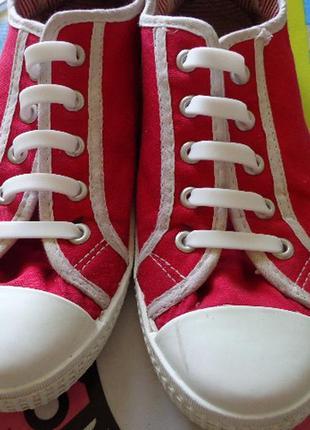 Силиконовые шнурки 12 штук